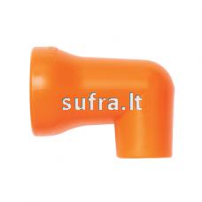 Apvalus purkštukas su 90° kampu 1/2″ sistemai (1/2'',12mm)