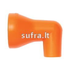 Apvalus purkštukas su 90° kampu 1/2″ sistemai (3/8'', 9mm)