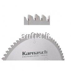 Diskinė pjovimo freza su kietmetalio plokštelėmis, skirta aliuminio pjovimui. Neigiamas danties kampas, Thin-Cut