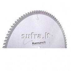 Diskinė pjovimo freza su kietmetalio plokštelėmis, skirta aliuminio pjovimui. Neigiamas danties kampas