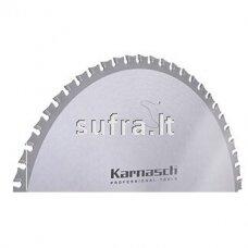 Diskinė pjovimo freza su kietmetalio plokštelėmis, skirta lengvojo plieno pjovimui. Neutralus danties kampas