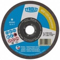 Pjovimo diskas plienui Tyrolit Basic* 2in1