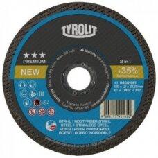 Pjovimo diskas plienui Tyrolit Premium*** 2in1