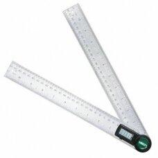 Skaitmeninis kampamatis (0-360°), padalos vertė 0,1°