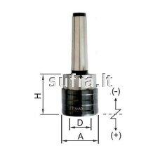 Sriegimo galtvutė su ašine kompensacija ir greito keitimo canga MK-A (MORSE DIN-228 A)