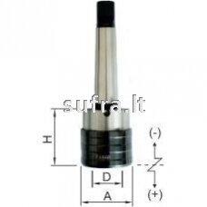 Sriegimo galtvutė su ašine kompensacija ir greito keitimo canga MK (MORSE DIN-228 B)