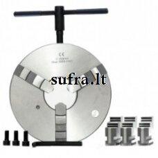 Tekinimo griebtuvas, spyžinis, 3-jų kumštelių, tvirtininamas ant cilindro (DIN 6350)